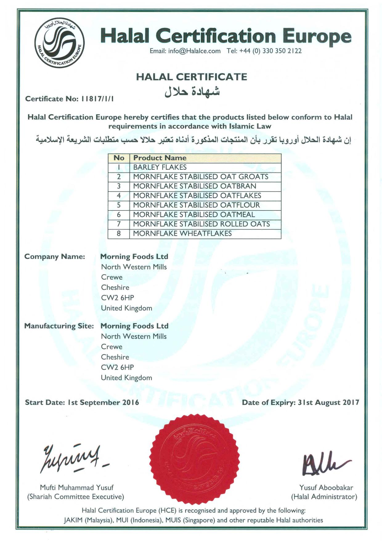 Hve Global Halal Network Halal Certification Europe